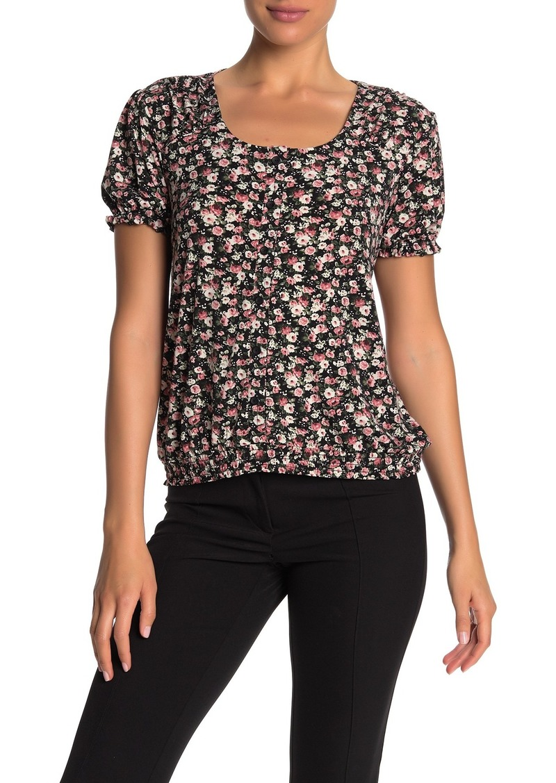 Catherine Malandrino Button Front Floral Print Blouse