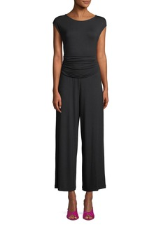 Cap-Sleeve Wide-Leg Jumpsuit
