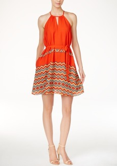 Catherine Catherine Malandrino Abbey Printed Fit & Flare Dress