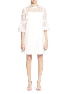 CATHERINE Catherine Malandrino Amelia Floral Lace Bell-Sleeve Dress