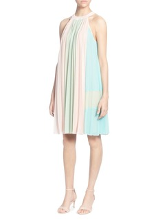 CATHERINE Catherine Malandrino Aurore Pleated Color Block Shift Dress