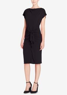 Catherine Catherine Malandrino Char Cotton Tie-Front Dress