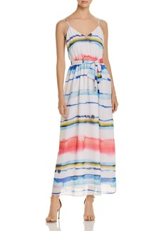 CATHERINE Catherine Malandrino Cody Watercolor Stripe Maxi Dress