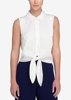 Catherine Catherine Malandrino Colby Tie-Front Shirt