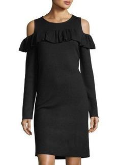 Catherine Catherine Malandrino Cold-Shoulder Sweaterdress