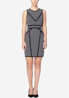 Catherine Catherine Malandrino Contrast-Seam Sheath Sweater Dress