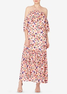 Catherine Catherine Malandrino Convertible Halter Maxi Dress