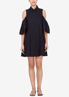 Catherine Catherine Malandrino Cotton Cold-Shoulder Shirtdress