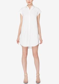 Catherine Catherine Malandrino Cotton High-Low Shirtdress