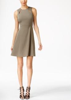 Catherine Catherine Malandrino Cutout Fit & Flare Dress