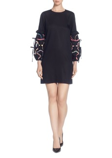 CATHERINE Catherine Malandrino Dahl Embellished-Sleeve Dress