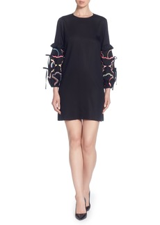 Catherine Catherine Malandrino Dahl Embroidered Sleeve Dress