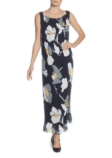 CATHERINE Catherine Malandrino Delphine Pleated Floral Maxi Dress