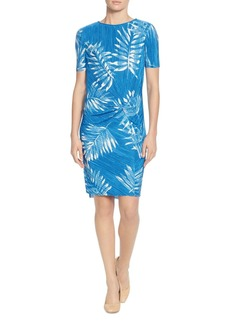CATHERINE Catherine Malandrino Dina Palm-Print Twist Dress