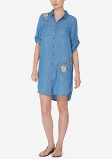 Catherine Catherine Malandrino Embroidered Shirtdress