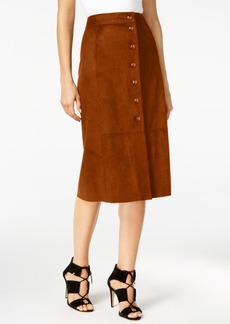 Catherine Catherine Malandrino Faux-Suede A-Line Skirt