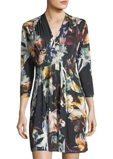 Catherine Catherine Malandrino Floral-Print 3/4-Sleeve Dress