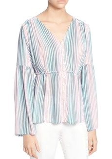 CATHERINE Catherine Malandrino Florrie Striped Bell-Sleeve Blouse