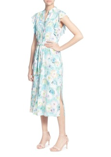 CATHERINE Catherine Malandrino Fredda Watercolor Floral Midi Dress