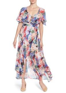 Catherine Catherine Malandrino Jos Floral Capelet Wrap Dress