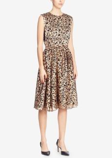 Catherine Catherine Malandrino Kells Burnout-Chiffon Fit & Flare Dress