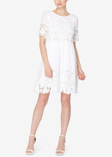 Catherine Catherine Malandrino Lace-Inset Shift Dress