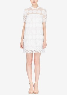 Catherine Catherine Malandrino Lemon-Lace Button-Back Shift Dress