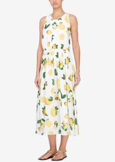 Catherine Catherine Malandrino Lemon-Print Midi Dress