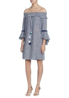 Catherine Catherine Malandrino Lesa Off-The-Shoulder Cotton Shift Dress