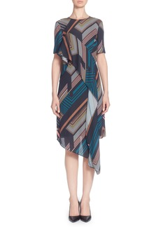 Catherine Catherine Malandrino Lill Asymmetrical Hem Dress