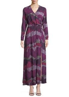 Catherine Catherine Malandrino Long-Sleeve Peasant Maxi Dress