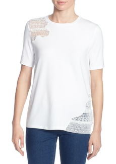 Catherine Catherine Malandrino Marie Lace Inset Top