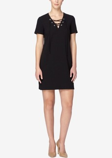 Catherine Catherine Malandrino Marius Lace-Up Shirtdress