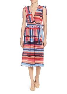 CATHERINE Catherine Malandrino Mickey Multi-Stripe Midi Dress