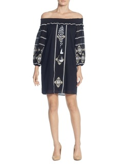 CATHERINE Catherine Malandrino Muriel Off-the-Shoulder Embroidered Dress