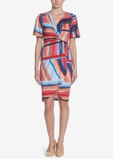 Catherine Catherine Malandrino Nyla Printed Faux-Wrap Dress