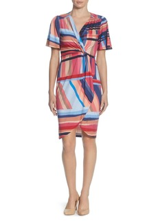 CATHERINE Catherine Malandrino Nyla Striped Twist-Front Dress