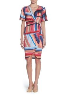 Catherine Catherine Malandrino Nyla Twist Front Sheath Dress
