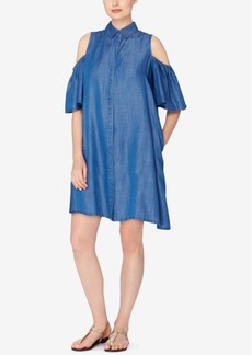 Catherine Catherine Malandrino Cold-Shoulder Shirtdress