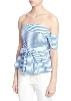 Catherine Catherine Malandrino Off-the-Shoulder Striped Blouse