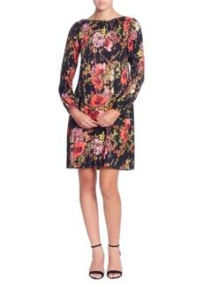Catherine Catherine Malandrino Petra Floral Plisse Sheath Dress