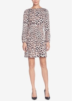 Catherine Catherine Malandrino Petra Pleated Leopard-Printed Shift Dress