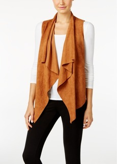 Catherine Catherine Malandrino Powell Draped Faux-Suede Vest