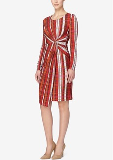 Catherine Catherine Malandrino Printed Faux-Wrap Dress