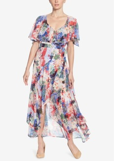 Catherine Catherine Malandrino Printed High-Low Wrap Dress