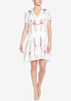 Catherine Catherine Malandrino Printed V-Neck Dress