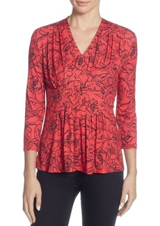 CATHERINE Catherine Malandrino Rea Pleated Floral Top