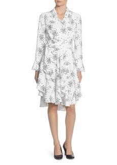 CATHERINE Catherine Malandrino Rene Dot Asymmetric Wrap Dress