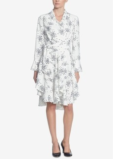 Catherine Catherine Malandrino Rene Printed Wrap Dress