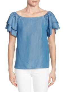 Catherine Catherine Malandrino Rochelle Tiered Short-Sleeve Top
